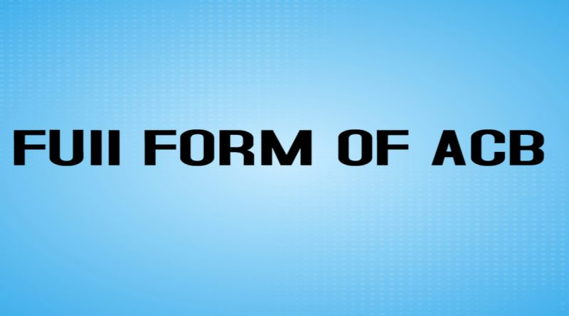 ACB full form