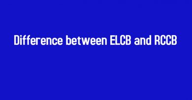 Difference between ELCB and RCCB