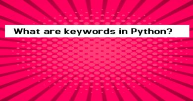 What are keywords in Python