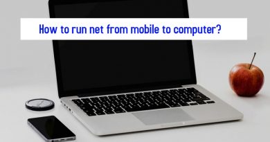 How to run net from mobile to computer?