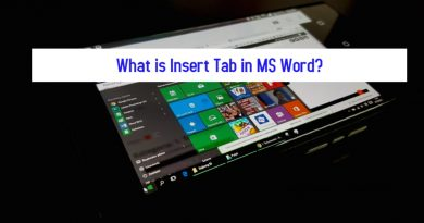 What is Insert Tab in MS Word
